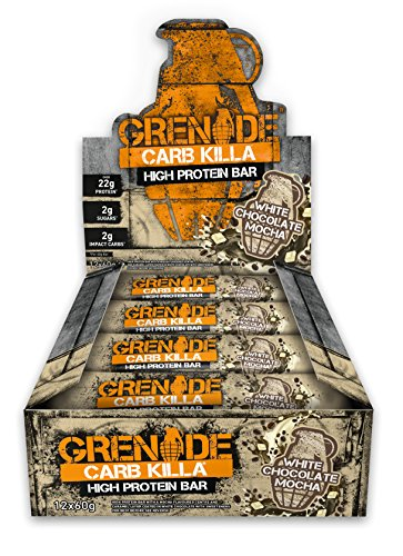 Product Image of Grenade Carb Killa High Protein and Low Carb Bar, White Choc Mocha, 12 x 60 g