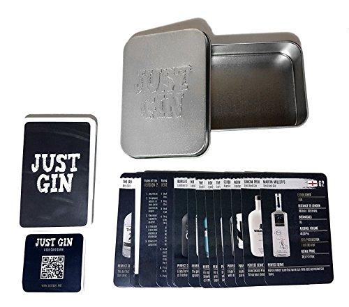 Preisvergleich Produktbild Just Gin Quartett - Kartenspiel mit 36 Gin Marken - 43 tlg. Set mit Box