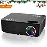 Projector, YABER Upgraded 4200 Lumens Led Full Hd Video Projector Support 1080P, 200""