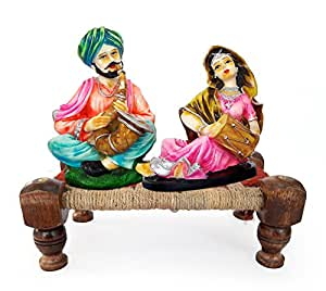 Buy TIED RIBBONS Rajasthani couple showpiece home decor items
