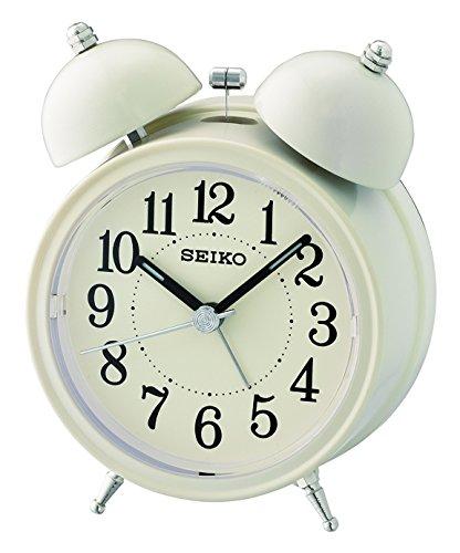 Seiko Unisex Wecker Analog Kunststoff weiß QHK035C