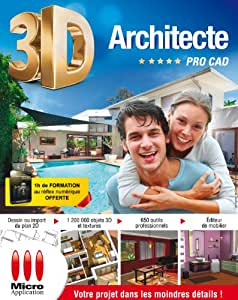 Architecte 3d pro cad logiciels for 3d architecte micro application