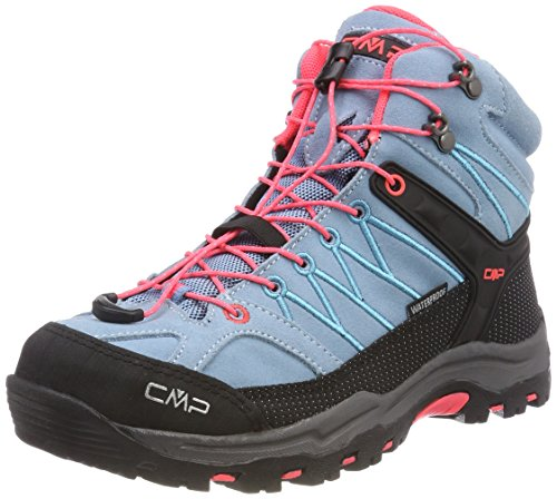 CMP Campagnolo Unisex-Erwachsene Rigel Mid Wp Trekking-& Wanderstiefel, Türkis (Clorophilla-red Fluo), 38 EU