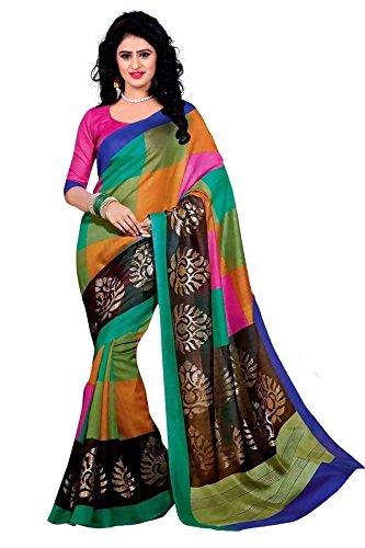 Trendz Bhagalpuri Cotton Silk Saree(TZ_Rangoli)