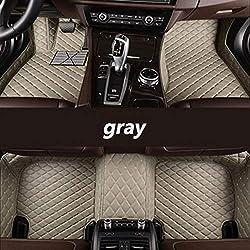 QIONGS Custom Car Fußmatten,für die Modelle Toyota Alle Land Cruiser Prado Camry rav4 Blumenkrone Hochländer Yaris Venza Prius Alphard, grau