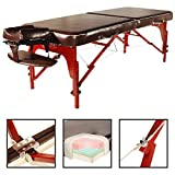 Master Massage 71 cm Monroe Mobile Portable Table de massage Lit de massage banc de massage cosmétique Chaise longue en 3 couleurs America incendie (Marron)