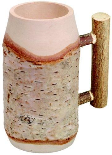 Hofmeister Holzwaren–Boccale da birra, con asta rotonda come manico, lunghezza: 150mm, in legno di betulla
