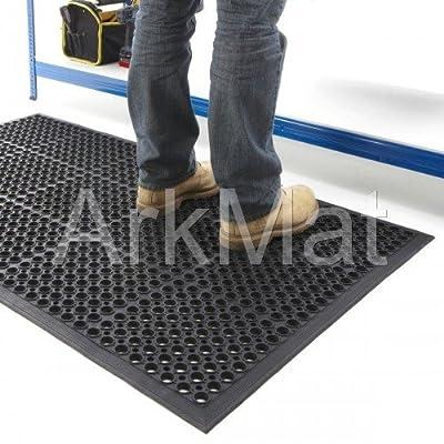 Rubber Workplace Anti Fatigue/ Factory/Kitchen/ Bar Flooring Mat 3ft x 5ft x 12mm - low-cost UK light shop.