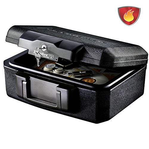 MASTER LOCK Caja Fuerte Portatil [Ignifuga] [con Llave] [Small] L1200 - Ideal para Documentos, Dispositivos...