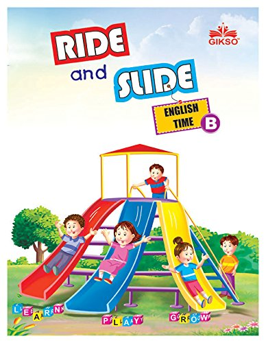 Gikso Ride and Slide English Time Book - B for LKG Kids Age 3-5 Years Old