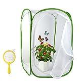 FEPITO 2Pcs Terrarium von Insekten und Schmetterlingen Lebensraum mit Kindern Bug Catcher Net, 23,6 Zoll groß
