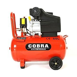 POWER HOUSE COBRA AIR TOOLS 50L LITRE AIR COMPRESSOR 9.5 CFM 2.5HP WITH FREE 5 PCS KIT(PAINT SPRAY GUN, PARAFFIN GUN, TYRE INFLATER, BLOW GUN AND HOSE) 8 BAR POWERFUL, 2 X FREE 1/4