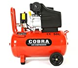 POWER HOUSE COBRA AIR TOOLS 50L LITRE AIR COMPRESSOR 9.5 CFM 2.5HP WITH FREE 5 PCS KIT(PAINT SPRAY GUN, PARAFFIN GUN, TYRE INFLATER, BLOW GUN AND HOSE) 8 BAR POWERFUL, 2 X FREE 1/4″ QUICK RELEASE COUPLINGS WILL BE INC.