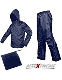 AllExtreme Unisex Super Light Outdoor Waterproof Raincoat With Hoods, Unisex Portable Rain Suit, Jacket And Pant Set - Small