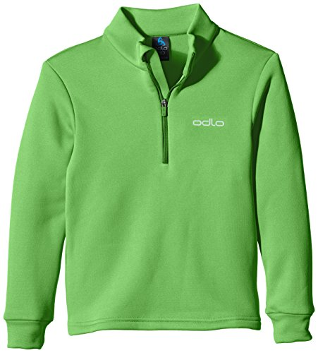 Odlo Kinder Pullover Jungen Midlayer 1/2 Zip Snowbird Kids Pullover & Sweatshirts-Bekleidung, Classic Green, 116