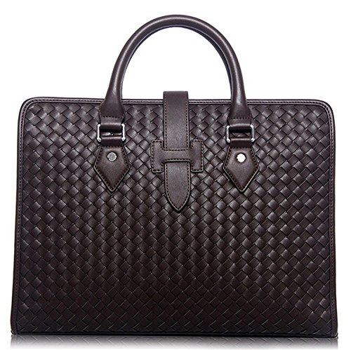 Xinmaoyuan uomini borsette uomini borsetta Genuine uomini Business Briefcase spalla di tessitura Messenger Bag,marrone Brown