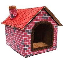 ushang interior suave cálido perro de mascota de la perrera, Gran Casa rojo camas con
