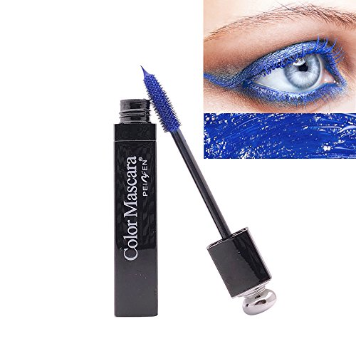 Colorful Mascara Bunt Wimperntusche Cosplay Augen Make-Up Kosmetika Langlebig, Anti-smudging, wasserdicht (Blau)
