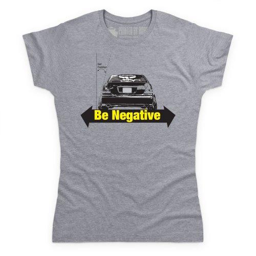 Stay Negative T-Shirt, Damen Grau Meliert