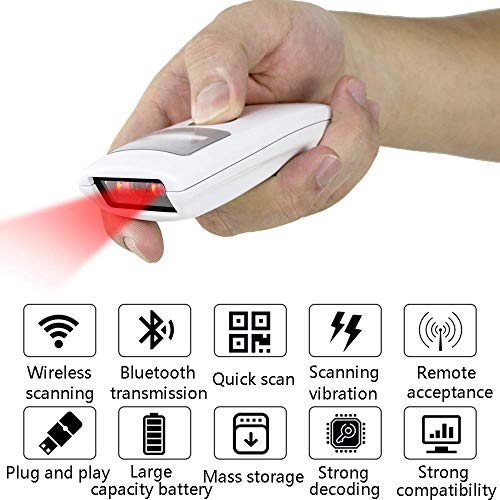 Bluetooth-Barcode-Scanner 1D 2D-QR-Barcode-Leser Kompatibel Für Computer PC MAC Laptop Tablet Smartphone Windows Ios Android (Barcode-scanner-iphone Mobile)