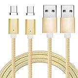 Gold Magnet USB C Kabel auf USB 3.0 A- Lebenslange Garantieserie - Fast Charging-Magnetisches Type C Ladekabel Kabel Dat
