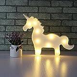 37YIMU - 3D LED unicornio noche lámpara luz para fiesta boda Navidad regalos decoración luz led para dormir