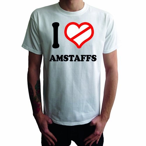 I don't love Amstaffs Herren T-Shirt Weiß