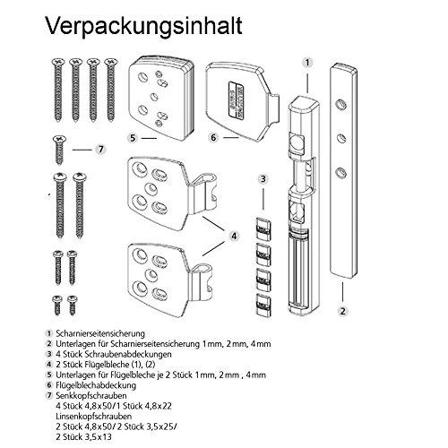 BURG-WÄCHTER Fenstersicherung für die Scharnierseite, Für Fenster aus Kunststoff, Holz oder Aluminium, WinSafe WS 44 W SB - 6