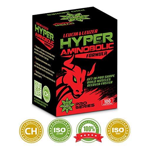 Cvetita Herbal, Hyper aminobolic 100 kapseln, L-Leucin und Leuzea carthamoides,BCAA,Aminosäuren und Ecdysteron,stimuliert Muskelwachstum,schnelle Muskeln erholen sich - Herbal Recovery