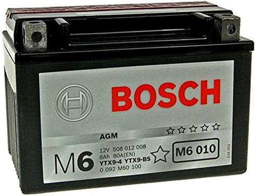MIM Distribution Batteria Bosch YTX9-BS 12 V 8 AH per Yamaha X-Max 125 2006/2013 per Yamaha-X-Max 250 dal 2005 Fino al 2013
