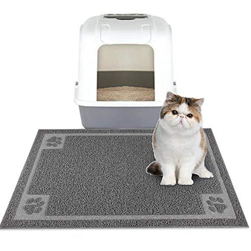 Fewao Napfunterlage für Katze und Hund 60 * 90cm, Wasserdicht & rutschfest Futtermatte für Hunde & Katzen, Fressnapfunterlage Futtermatten Katzenstreu Tablett Mat
