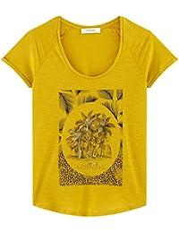 Promod Baumwoll-T-Shirt mit Print