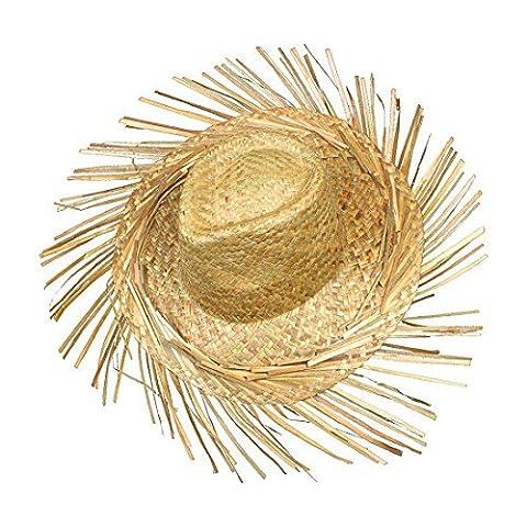 S/O Chapeau de paille Hawaï avec franges raphia Chapeau de paille chapeaux Hawaii Party