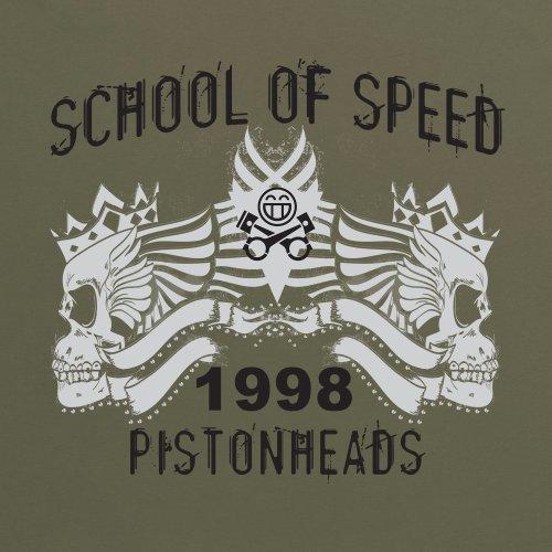 PistonHeads School of Skulls T-Shirt, Herren Olivgrn