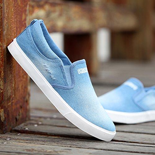 Elwow , Sandales Compensées homme bleu clair