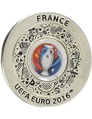 UEFA EURO 2016 –produit officiel pin argenté avec logo rond, emblème de coupe