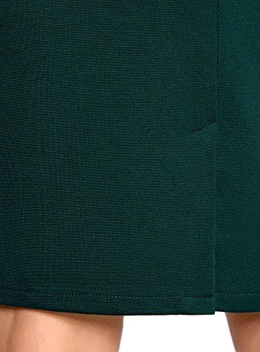 oodji Collection Damen Jersey-Rock mit Schlitz Grün (6E00N)