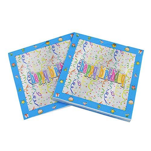 Weiche und saugfähige Papierservietten, 16,5 cm gefaltet, 60 Stück Einweg-Handtücher für Partys, Hochzeiten, Abendessen oder Veranstaltungen Multicolor-hb