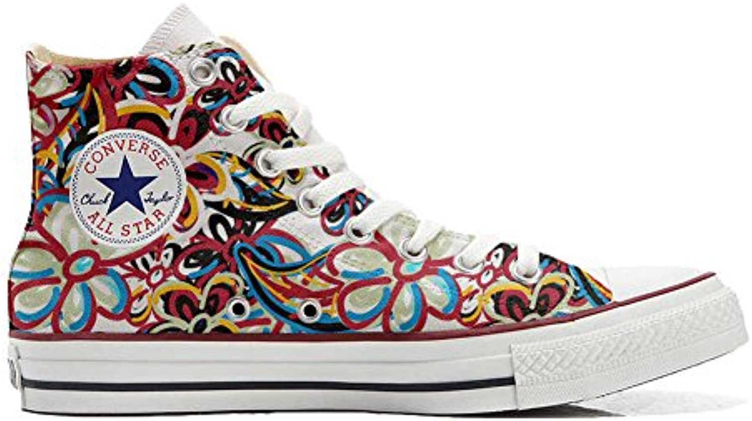 mys Converse All Star Personalisierte Schuhe   Handmade Shoes   Floreal Abstract