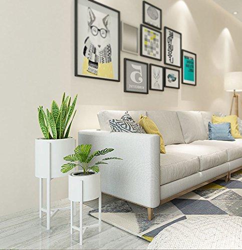 Blumenständer, Nordeuropa, einfache Kreativität, Eisen, dreieckig, Blumenständer, Behälter, Wohnzimmer, TV-Bank, Dekoration, Balkon, Innenbereich, Fußpflanzen Large weiß -
