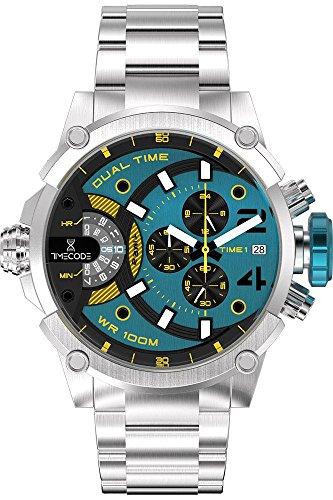 3 - Timecode Reloj Cronógrafo para Hombre de Cuarzo con Correa en Acero Inoxidable TC-1003-15