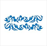 3100__LBL Autoaufkleber Tribal Tattoo ( Light Blue)
