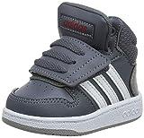 adidas Unisex Baby Hoops 2.0 Mid Sneaker, Grau (Onix/Footwear White/Active Maroon 0), 25 EU
