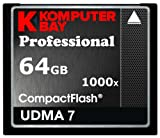 Komputerbay 64GB COMPACT FLASH CARD Professionelle CF 1000 X 150MB/s Extreme Speed ​​UDMA 7 RAW 64 GB