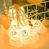 LED Lichterkette Batteriekasten Weihnachtsmannschnur Cartoon Weihnachtsmann Fenster Vorhang 10 Lichter String Lampe Party Decor Perlen Regenkette Warmweiß Weihnachten Beleuchtung