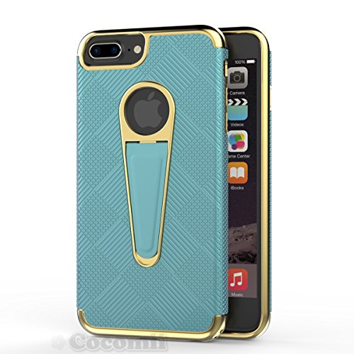 Tiffany Natur Rose (iPhone 8 Plus / 7 Plus Hülle, Cocomii Angel Armor NEW [Heavy Duty] Premium Tactical Grip Kickstand Shockproof Hard Bumper Shell [Military Defender] Full Body Dual Layer Rugged Cover Case Schutzhülle Apple (Tiffany Blue))