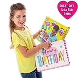 GirlZone: Lippenbalsam Set Selber Machen - Kinderschminke Set - 22 Teile - Labor der Lippenstifte & Kinderkosmetik Make-up-set - Geschenk für Mädchen 6-10 Jahre alt- Kreatives für Mädchen Test