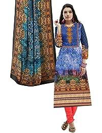 BalajiWomen's Cotton Unstitched dress material(1006-multicolor-free size)