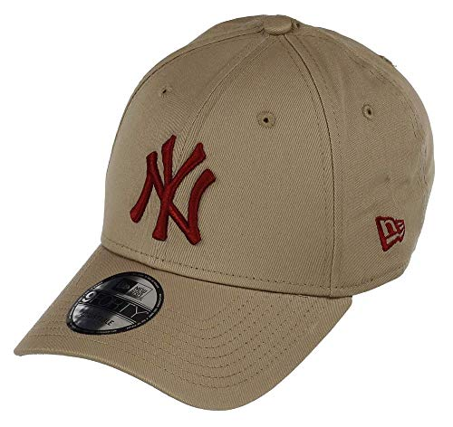 New Era 9FORTY MLB League Essential New York Yankees Cap beige/rot, OneSize