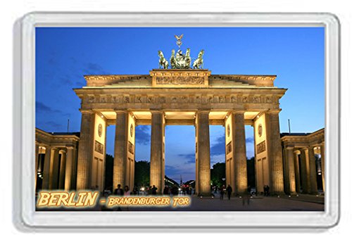 AWS Harte PVC Magnet Berlin Brandenburger Tor Berlin Souvenir Deutschland Magnet Fridge Magnet Germany Kühlschrank-Magnet aus hartem Kunststoff mit Bild Foto Stadt City Brandenburger Tor Brandenburg - Kühlschrank Deutschland Magnet